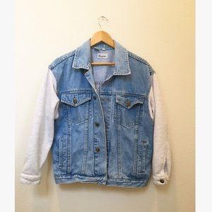 Vintage Denim Sweatshirt Sleeve Bergamo Jacket